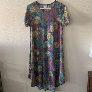 LulaRoe Carly Dress — Purple Floral